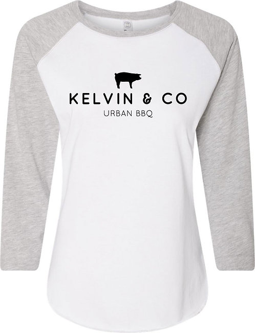 Kelvin & Co Ladies' Baseball Tee