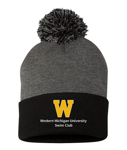 WMU Swim Club Embroidered Beanie