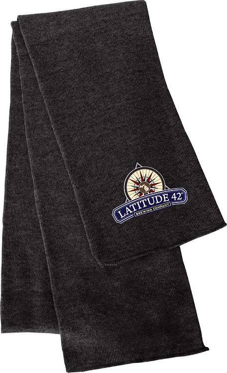 Embroidered L42 Knit Scarf
