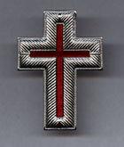 """2.25"""" Silver Metal Cap Cross"""