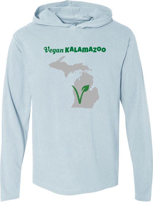 Vegan Kalamazoo Long Sleeved Hooded Tee