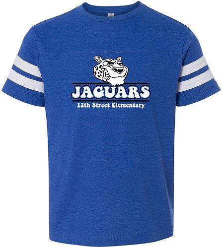 Youth Jaguar Football Stripe Jersey Tee
