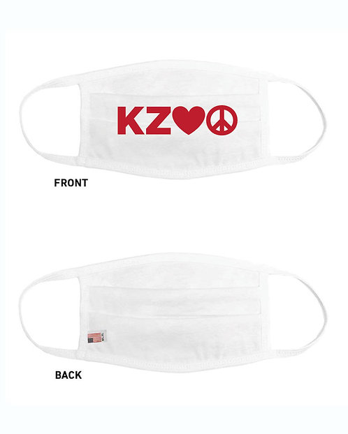KZOO Love Peace Face Masks