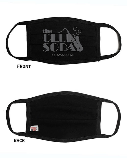 Club Soda Logo Face Masks