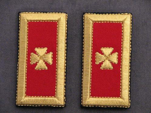 Grand Commandery & Past Grand Commander Shoulder Straps