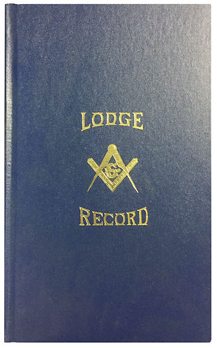 Lodge Record Book