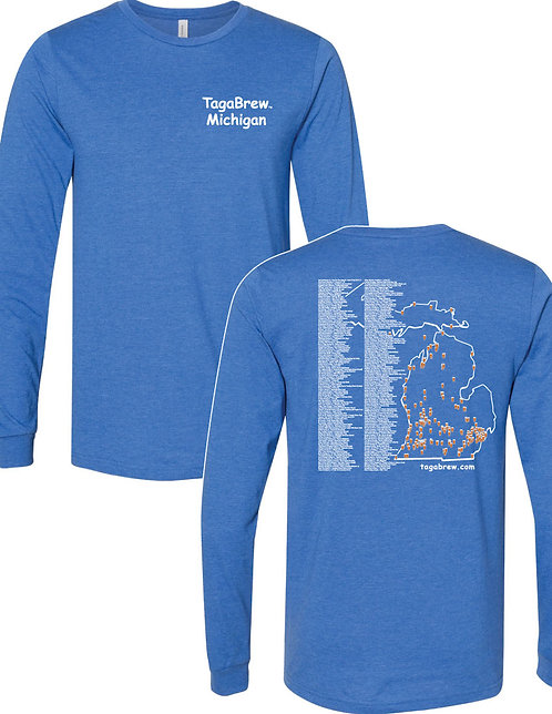 Trail Long Sleeved Tee - TagaBrew Michigan