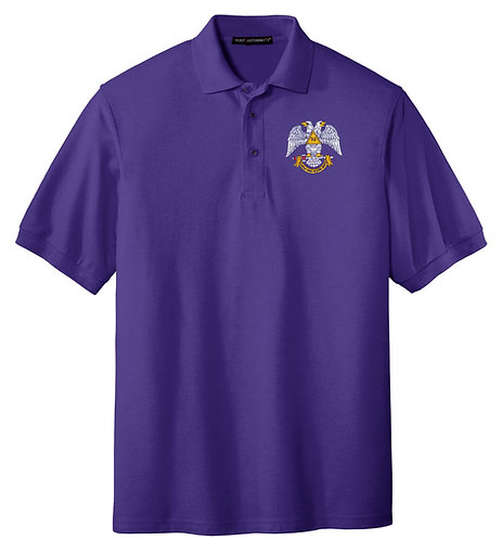 Embroidered Silk Touch Polo