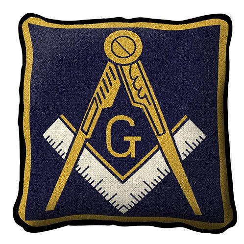 Woven Masonic Emblem Pillow