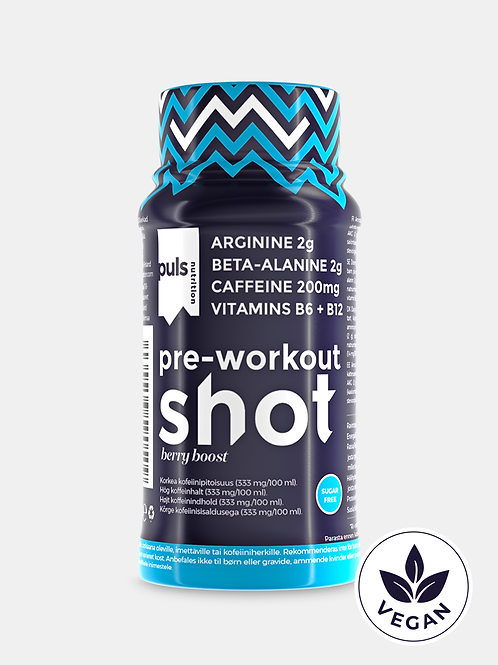 SHOT pre-workout Berry boost 60 ml