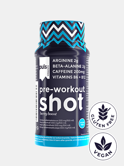 SHOT pre-workout Berry boost 60 ml