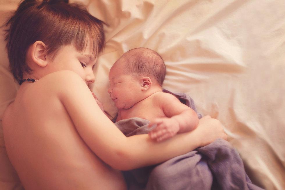 Schlafen Geschwister
