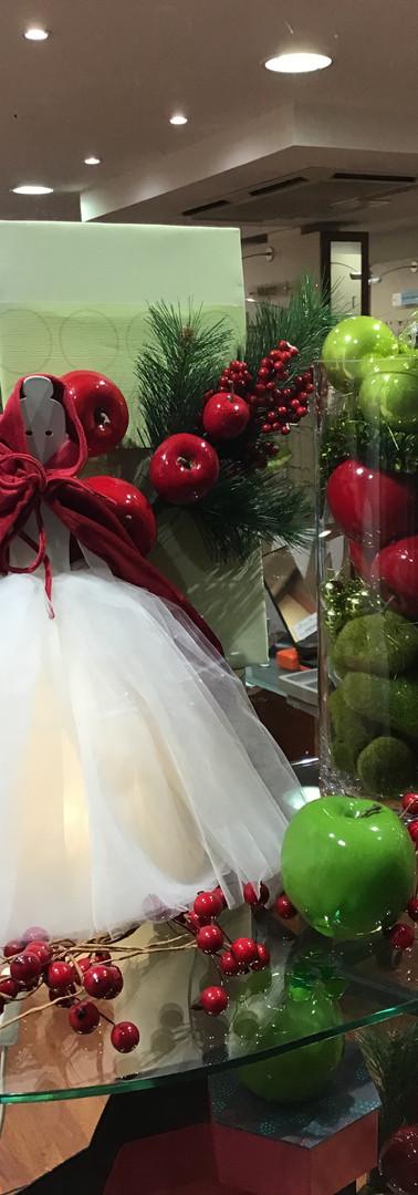 Noël, pommes et le petit chaperon rouge