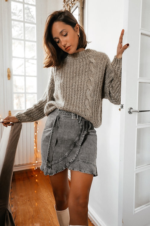 Seattle taupe sweater
