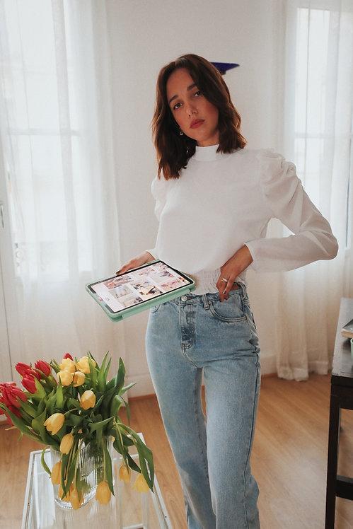 White Marina blouse