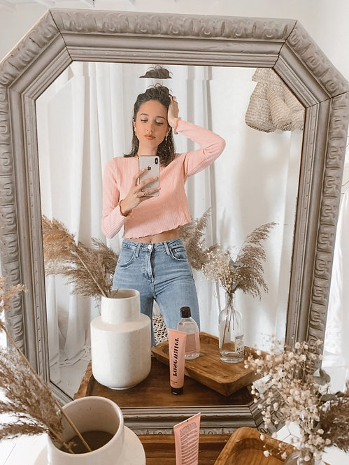 Pink Angie long sleeve top