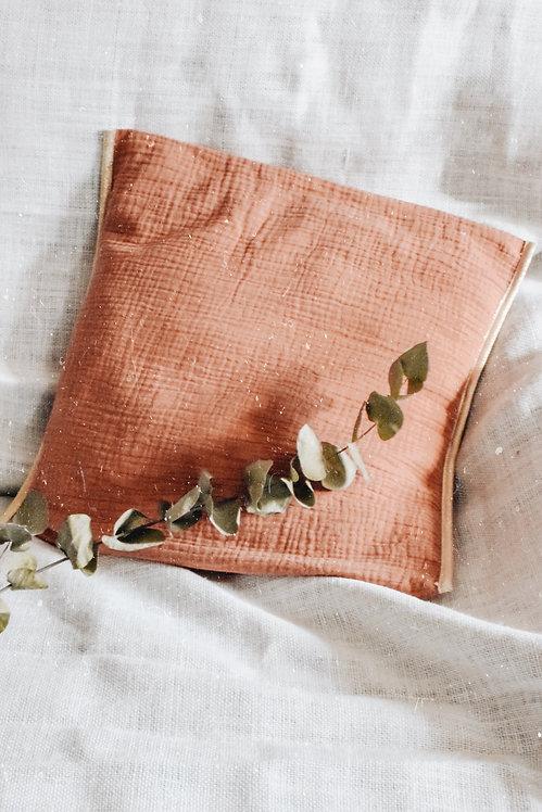 Housse de coussin Philomène vieux rose