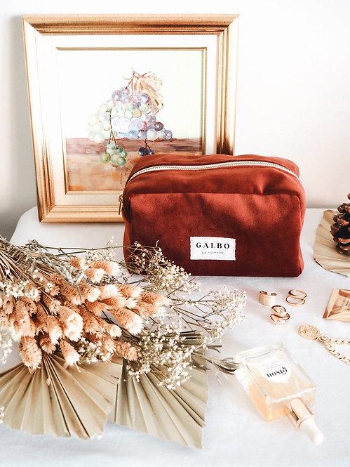 Travel bag LA NOMADE rust velvet