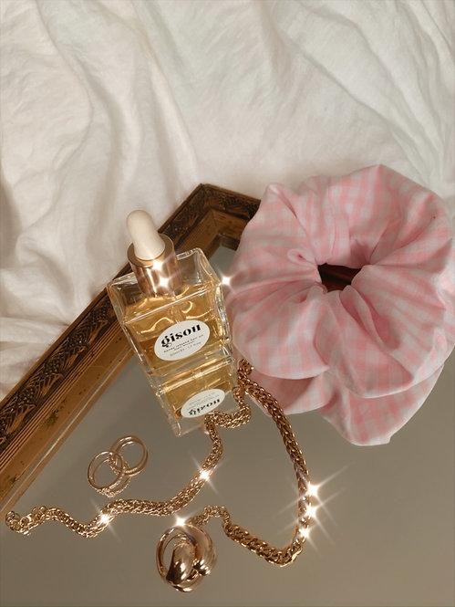Chouchou carreaux rose