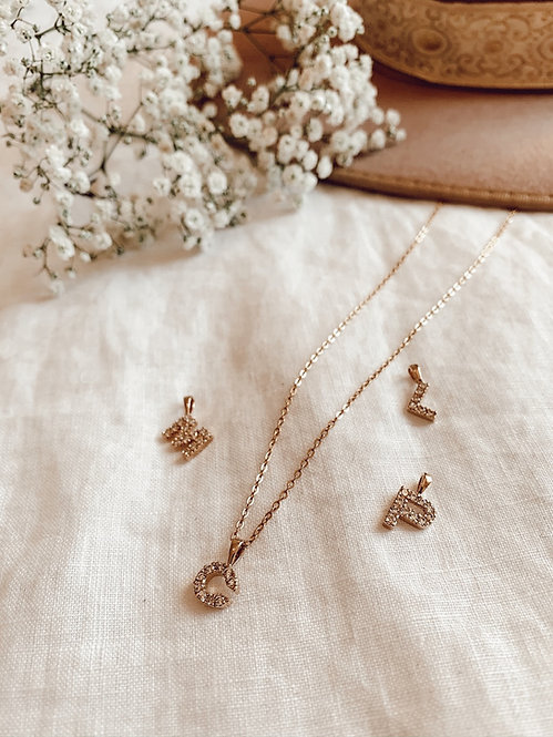 Shiny Initial Necklace