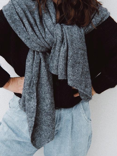 Echarpe Adèle gris chiné