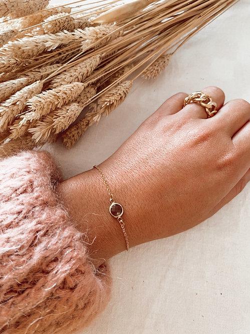 Bracelet Miette perle grise