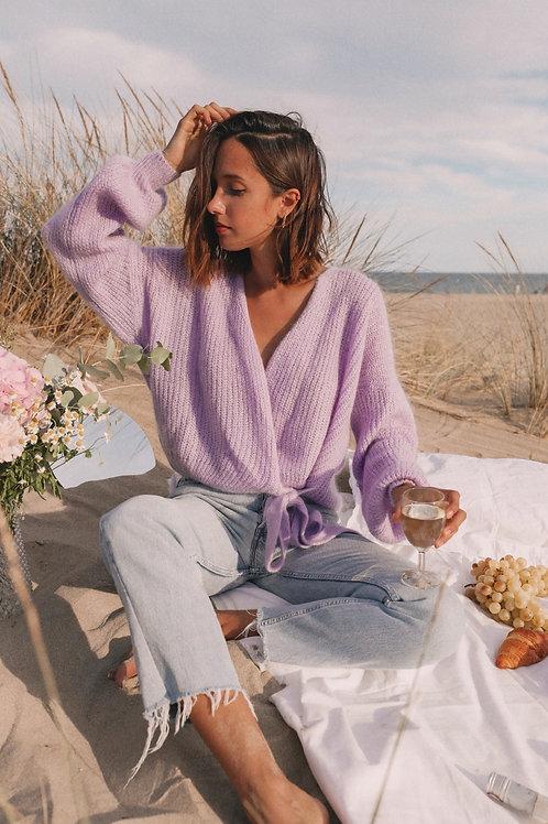 Gilet Alpilles cache coeur lilas