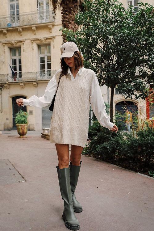 Robe/pull Clémence  écrue