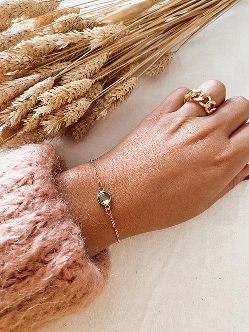 Bracelet Miette perle verte