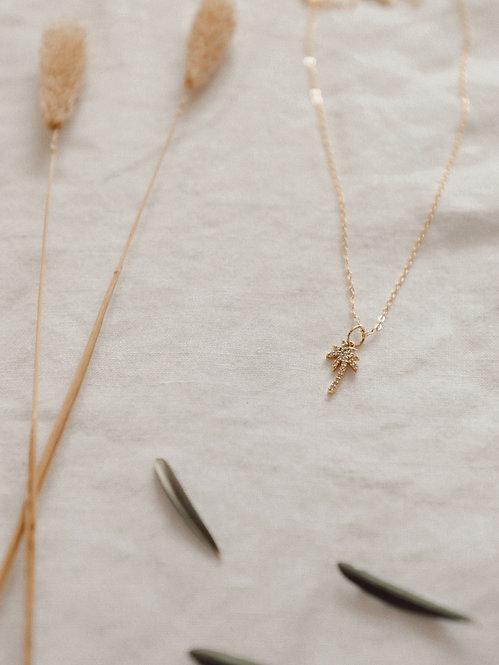 Rhinestone Palm Necklace