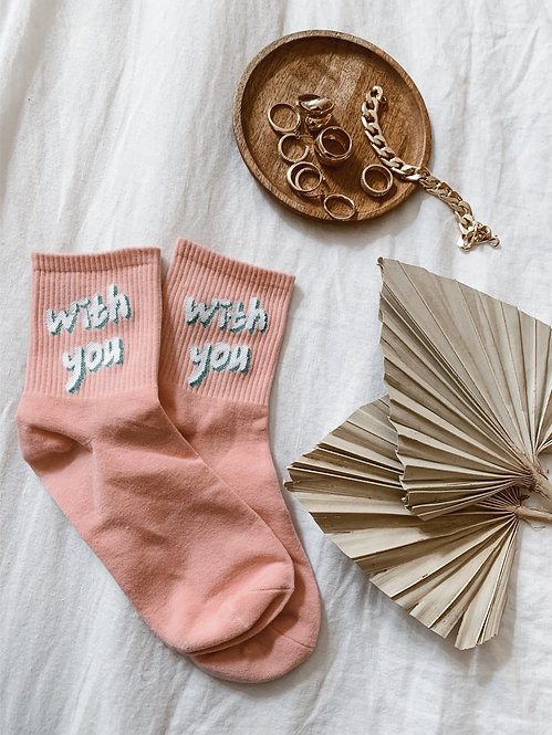 Chaussettes «with you»