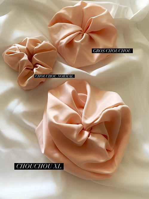 Chouchou Silky rose doux uni XL