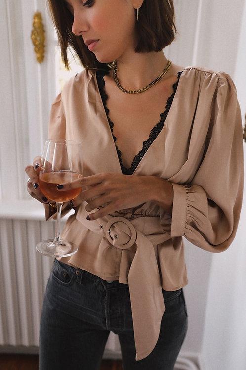 Luce beige blouse