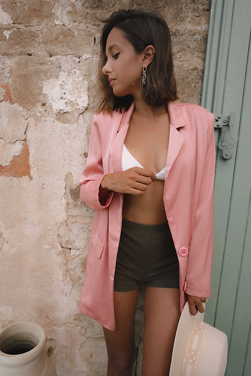 Blazer Georges satiné rose