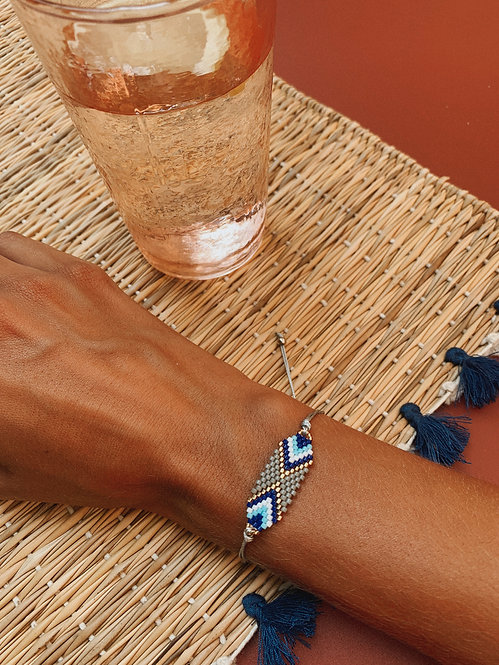 Bracelet Oletta gris et bleu