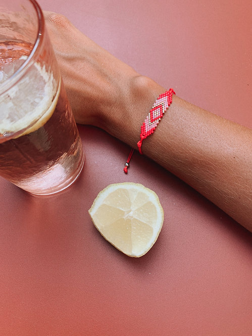 Red and pink Zonza bracelet