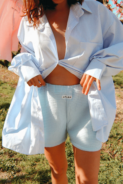 Soft blue terry Diego shorts