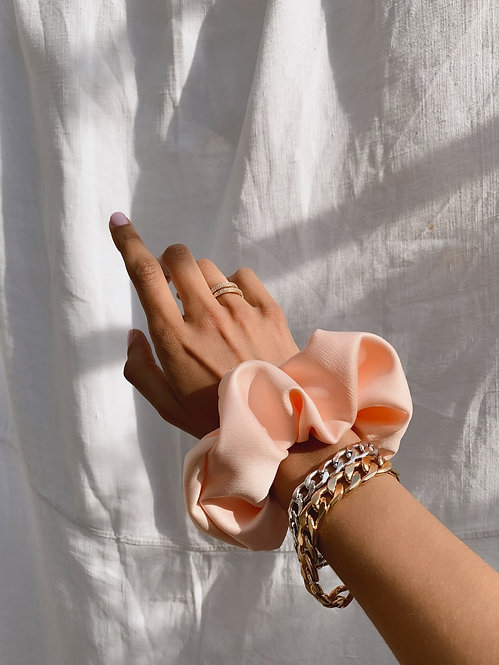 Chouchou Silky rose doux