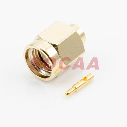 SMA STRAIGHT PLUG FOR RG-402U CABLE