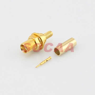 MCX STRAIGHT JACK BULKHEAD CRIMP FOR RG-174U CABLE