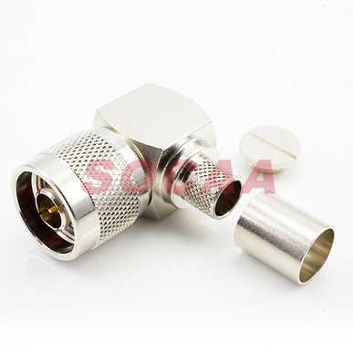 N Plug R/A Crimp for LMR400