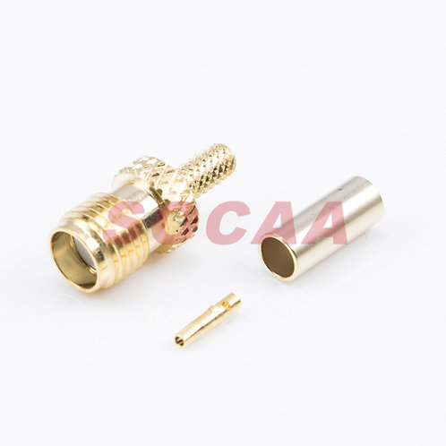 SMA JACK STRAIGHT CRIMP FOR RG-174U CABLE