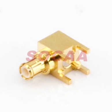 MCX PLUG R/A PCB MOUNT