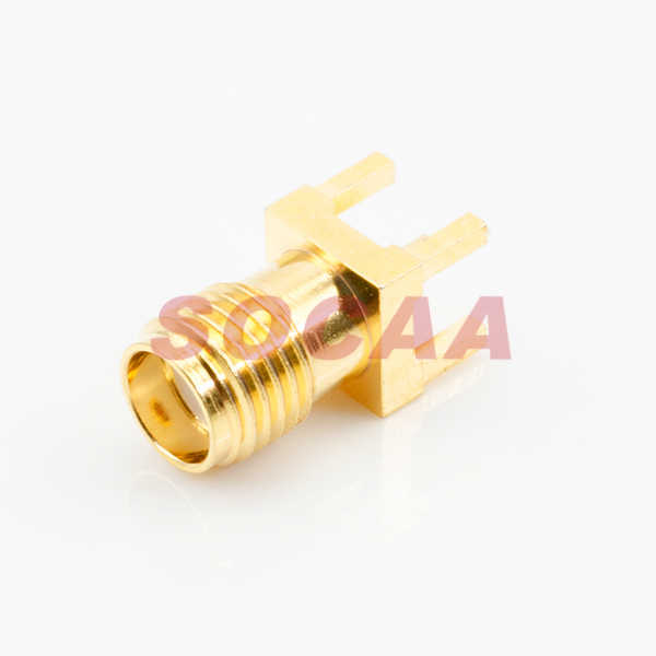 SMA STRAIGHT JACK PCB MOUNT RECEPTACLE
