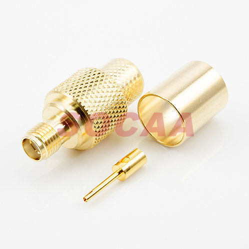 SMA JACK STRAIGHT CRIMP FOR LMR400 CABLE