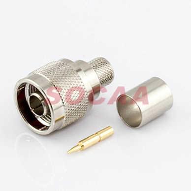 N Plug Straight Crimp FOR RG-213U