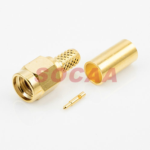SMA PLUG STRAIGHT CRIMP FOR RG-58U CABLE
