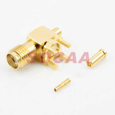 SMA R/A JACK PCB MOUNT CRIMP FOR  1.13 CABLE