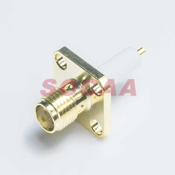 SMA STRAIGHT JACK STRAIGHT PANEL MOUNT RECEPTACLE