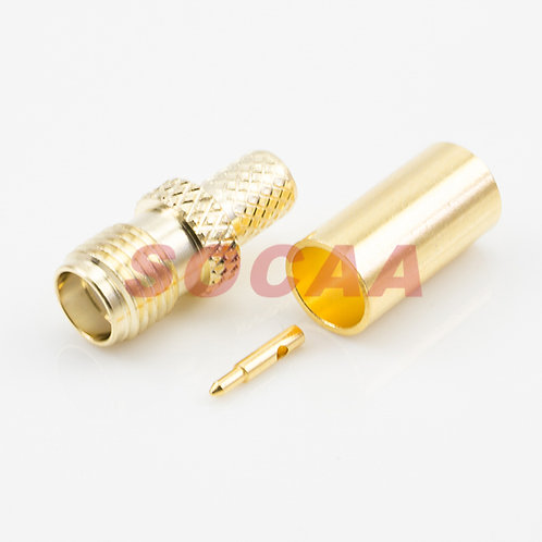 SMA JACK STRAIGHT REVERSE  CRIMP FOR RG-58U CABLE